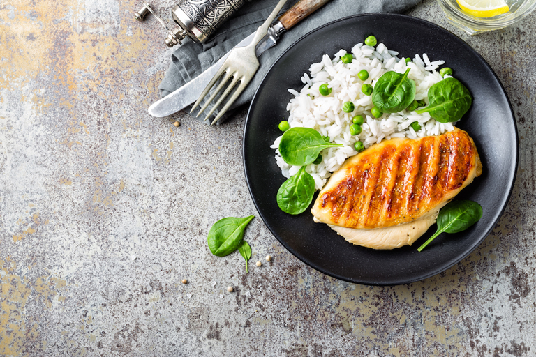 seven tips for eating right dish of chicken breast healthy food