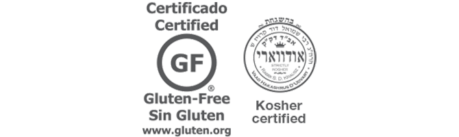 gluten free and koher certified logo