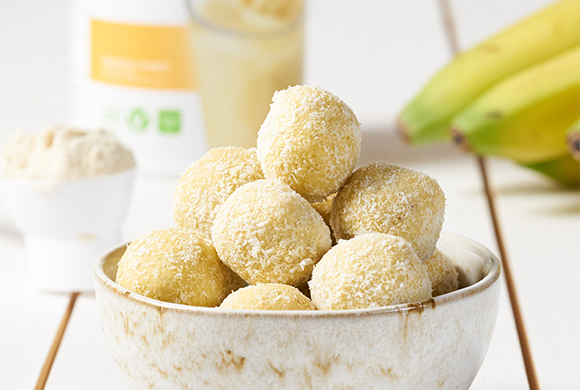 Banana Coconut Snowballs