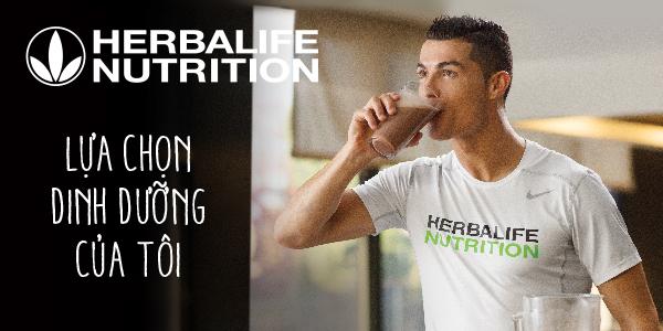 Herbalife nhà tài trợ dinh dưỡng chính thức cho Cristiano Ronaldo
