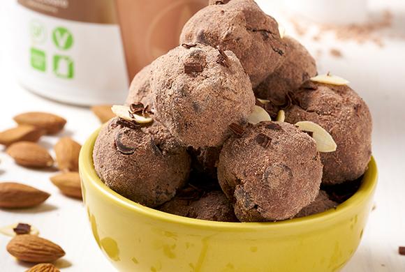 Bocconcini proteici cioccolato e mandorle